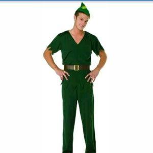 Men's Elf Robin hood costume Green, One Size